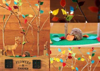 DIY: Ein Wald aus Stöcken und Filz fürs Kinderzimmer